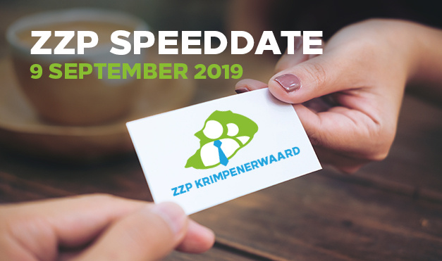 9 september 2019 // ZZP Speeddate